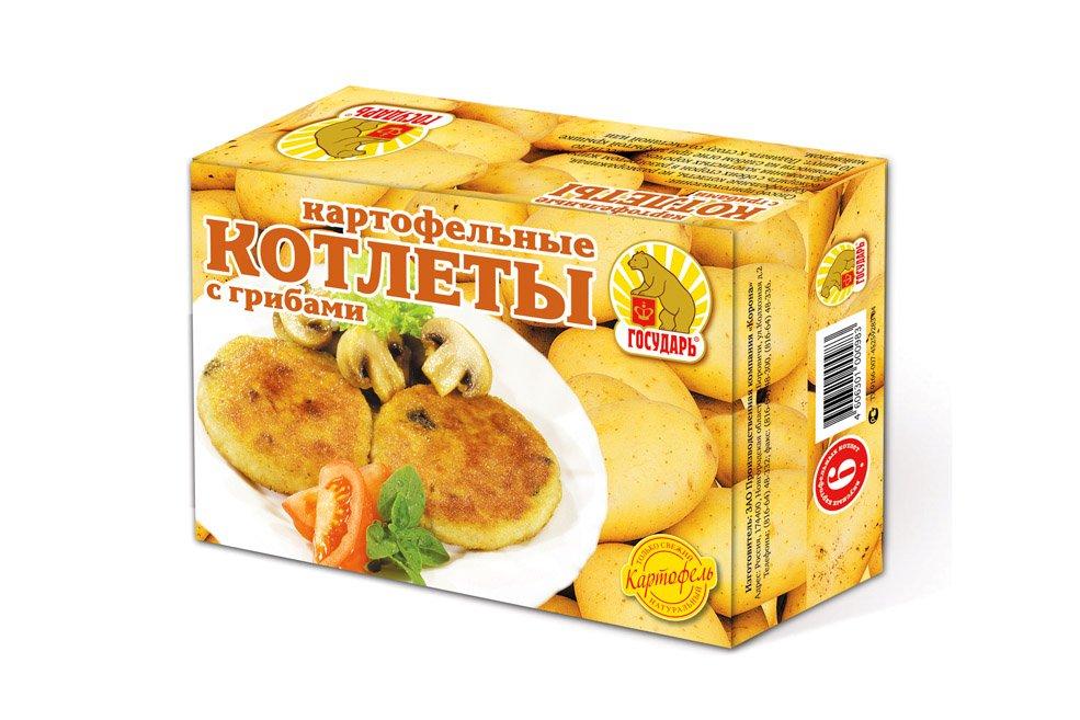 Котлеты  картофельные «С грибами»