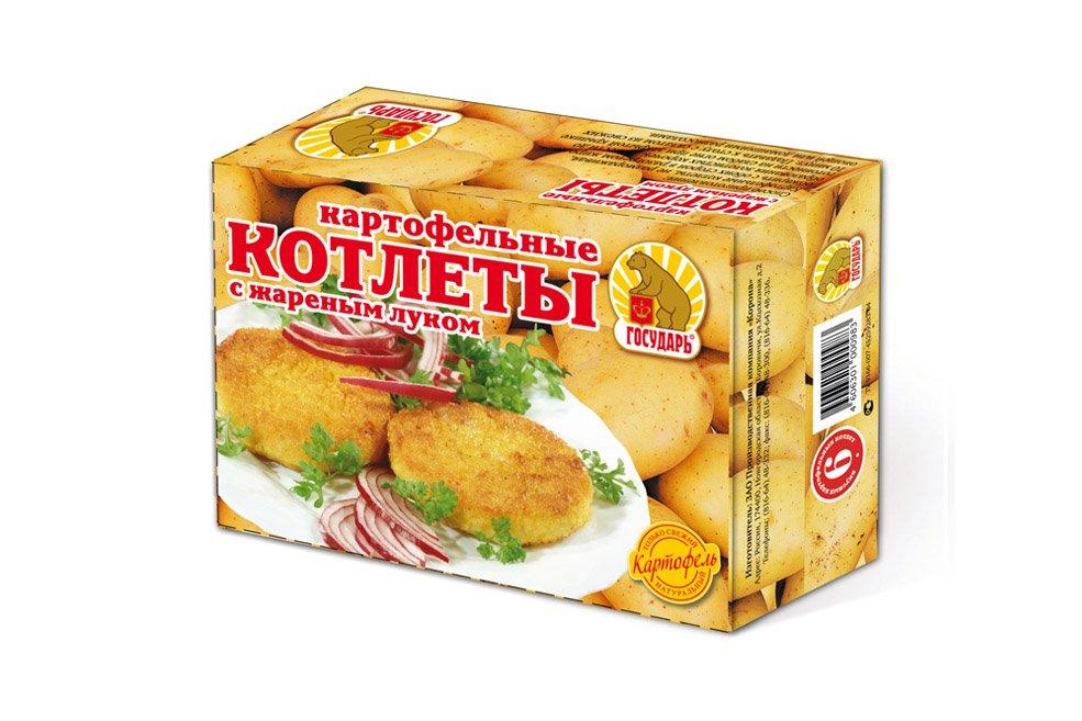 Котлеты  картофельные «С жаренным луком»