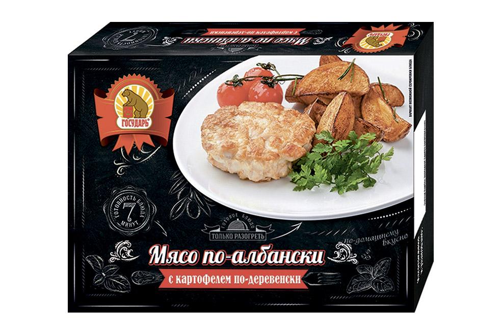 Мясо по-албански с картофелем по-деревенски